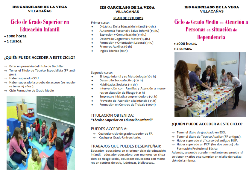 Información Secretaría Ies Garcilaso De La Vega